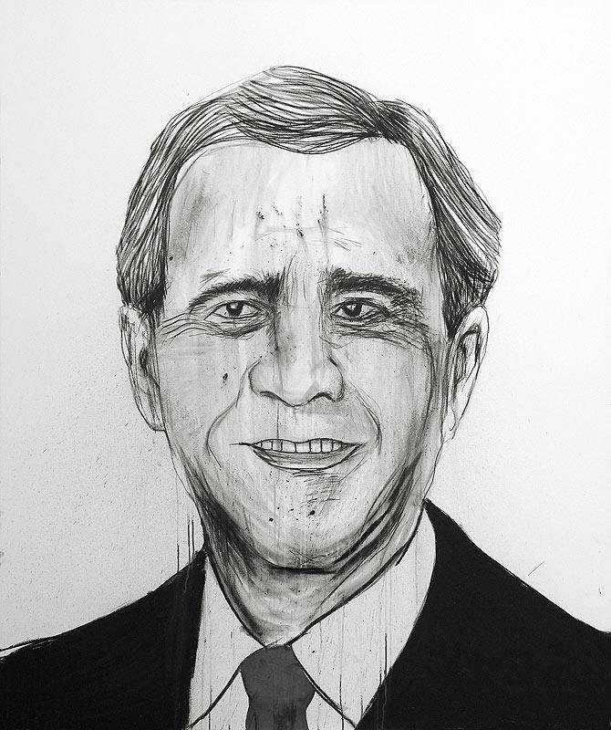Pablo-Gonzalez-Trejo_-George-W.-Bush_-70-x-62-inches_-178-x-157-cm_-2009_-Charcoal-and-Graphite-on-Canvas