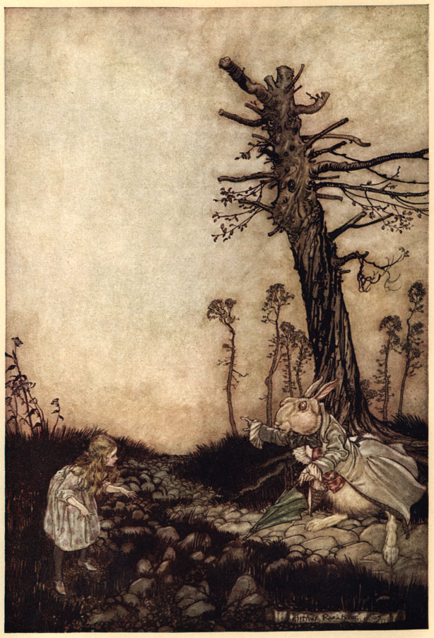 alice in wonderland book illustrated by arthur rackham