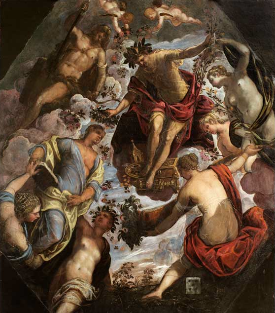 Tintoretto, Apollo (or Hymen) Crowning a Poet and Giving Him a Spouse