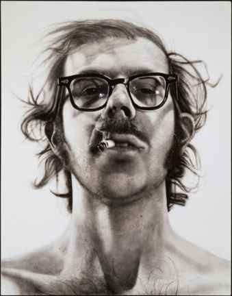 Chuck Close self-portrait