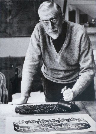 M C Escher at work