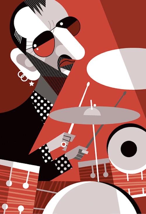 Ilustraciones de famosos por Pablo Lobato