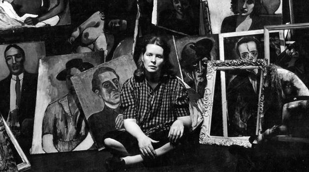Alice Neel in her studioo
