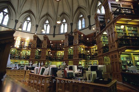 Parliament Building old Library, Ottawa, Ontario, Canada, North America