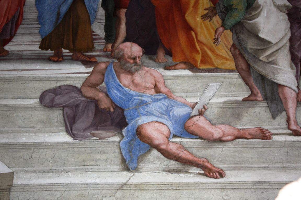 Diogenes the cynic, Raphael