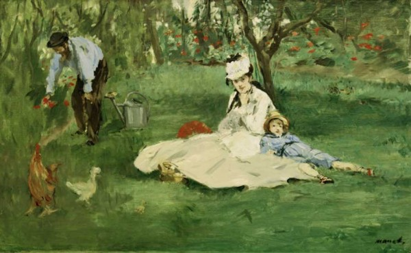 Monet Family in the Garden Edouard Manet