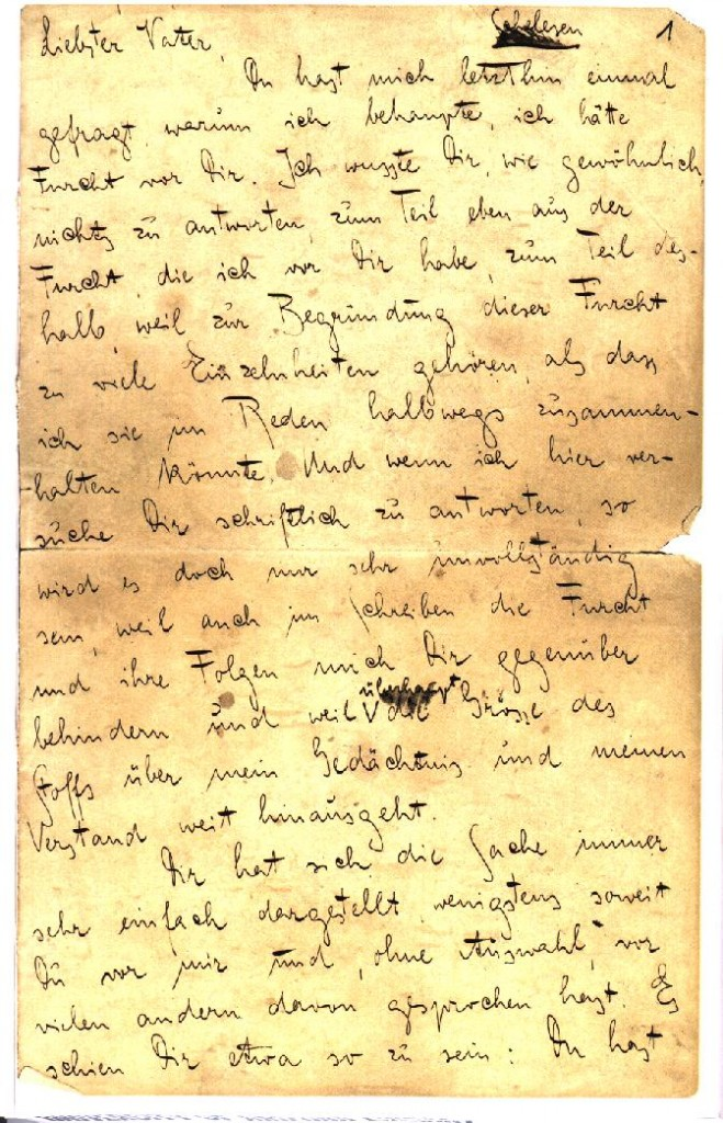 Kafka's Letter To His Father | Escape Into Life