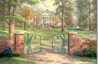 thomas kinkade to paint graceland 1