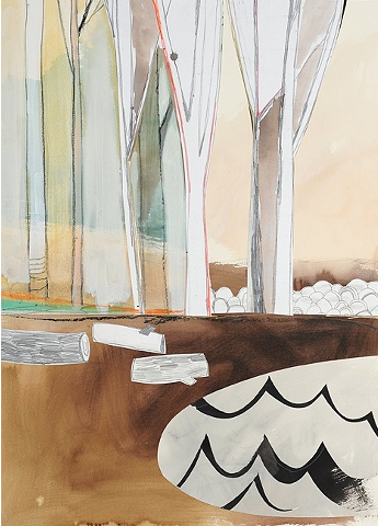 Oliver_Le Bois_2010_ink, pencil and cut paper on paper_27x35