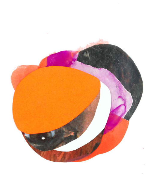 Solis_Starlight_2012_gouache, acrylic, acetate, colored paper and found images on museum board_3.5x4.25