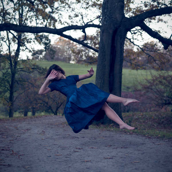 Diana Lemieux, A Strong Gust (woman in blue, floating)