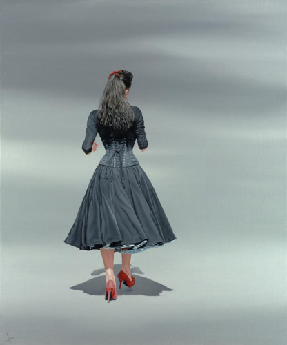 Nigel Cox, Black Basque (red heels)