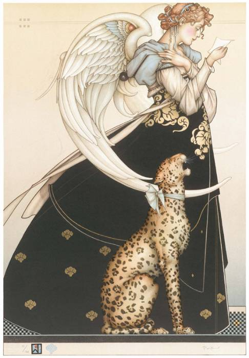 Michael Parkes, letter and leopard
