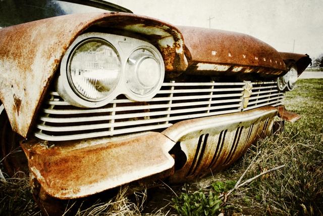 Justin Hamm, car 3310, front grill