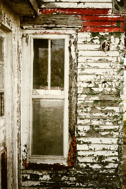 Justin Hamm, window, peeling paint, EIL