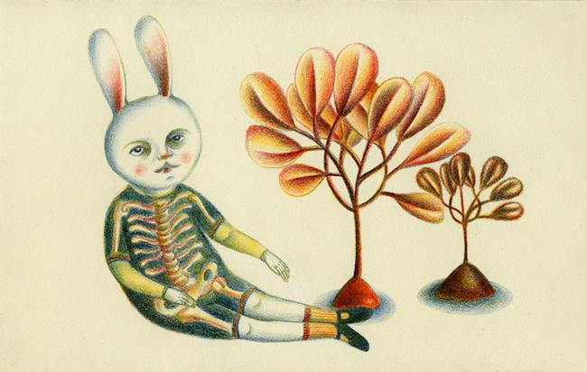 Andrea Dezso, bunny-by-trees