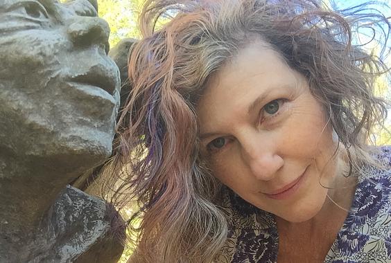 Abby & Statue